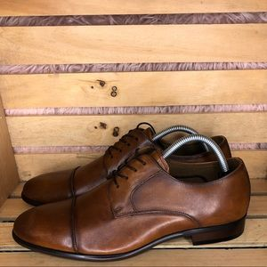 Aldo brown leather dress shoe men's size 8